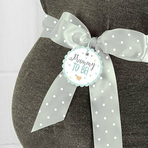 Mummy To Be Sash Unisex GREEN Polka Dots Baby Shower Accessory Gift