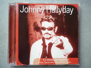 Johnny-Hallyday-cd-album-promo-SFR-10-Titres-De-Legendes