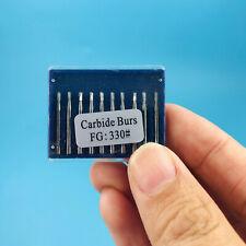 1 Pack Dental Carbide Burs Pear Shaped Type High Speed Tungsten Steel Bur Fg330