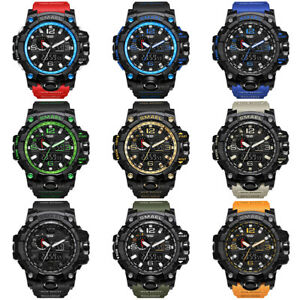 Fashion-Waterproof-Sports-Military-Shock-Men-039-s-Analog-Quartz-Digital-Watches-SPB