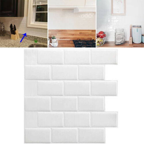 1pcs 3D Self Adhesive Mosaic Tile Sticker Kitchen Bathroom Wall Stickers Decor