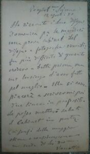 Manuscripts Open-Minded 1880 Rare Autograph Of The Painter Milanese Alessandro Vaghela Alfredo D'andrade Possessing Chinese Flavors