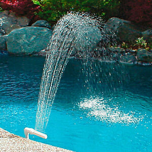 Details about Swimming Fish Pool Waterfall Fountain Adjustable Water  Pools/Decoration 1.5 Inch
