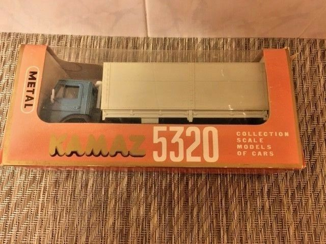 NWB Rare Vintage Diecast Kamaz-5320 with grey awning ( 1986 ) USSR. Scale 1 43