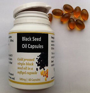 Black Seed Oil Capsules from Cold pressed virgin black seed 60 x 500mg