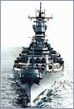 Poster Print: USS Missouri Iowa Class Battleship - Front Bow View