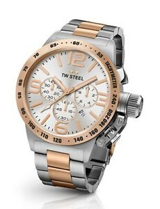 TW-Steel-Watch-CB123-Canteen-45MM-Chrono-Rose-Gold-amp-Silver-Steel-COD-PayPal