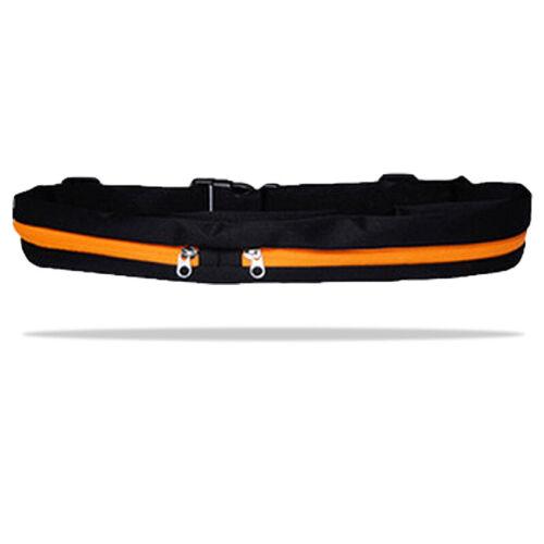 Singie//Dual Pocket Running Belt Adjustable Waist Bag for Outdoor Sports