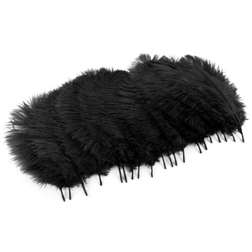 20 Pieces 25-30cm Ostrich Feathers for Crafting Carnival Costumes Decorations
