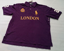 POLO RALPH LAUREN MEN'S PURPLE POLO w LONDON EMBROIDERY BIG & TALL SIZE XLT TALL