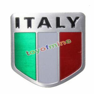 Alliage-de-Metal-Auto-Aluminium-3D-Stickers-Autocollant-Pour-Drapeau-italien