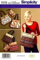 Simplicity Sweet Pea Handbags Purse & Matching Clutch Pattern uncut Craft Supplies
