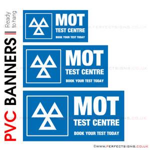 MOT TESTING STATION GARAGE VEHICLE CAR BANNER PROMOTIONAL PVC VARIOUS SIZES