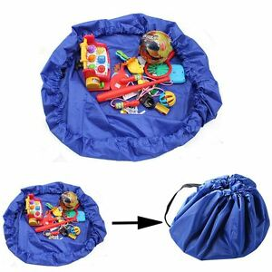 Portable Kids Children Baby Play Mat Toys Storage Bag Lego