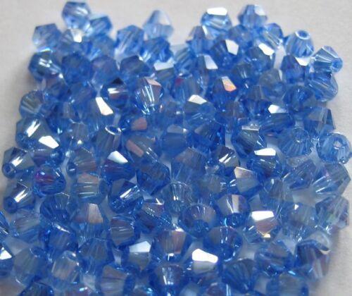 Tupi CRISTAL AB 4mm 100 piezas azul