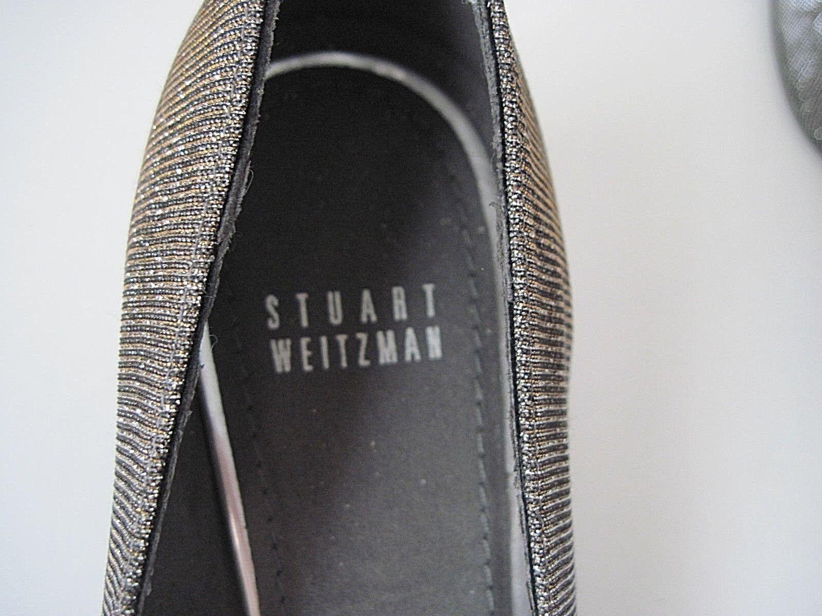STUART WEITZMAN Silver Silver WEITZMAN Gold Metallic Shimmering Pumps Heels Größe 8M, Excellent bc0a0d