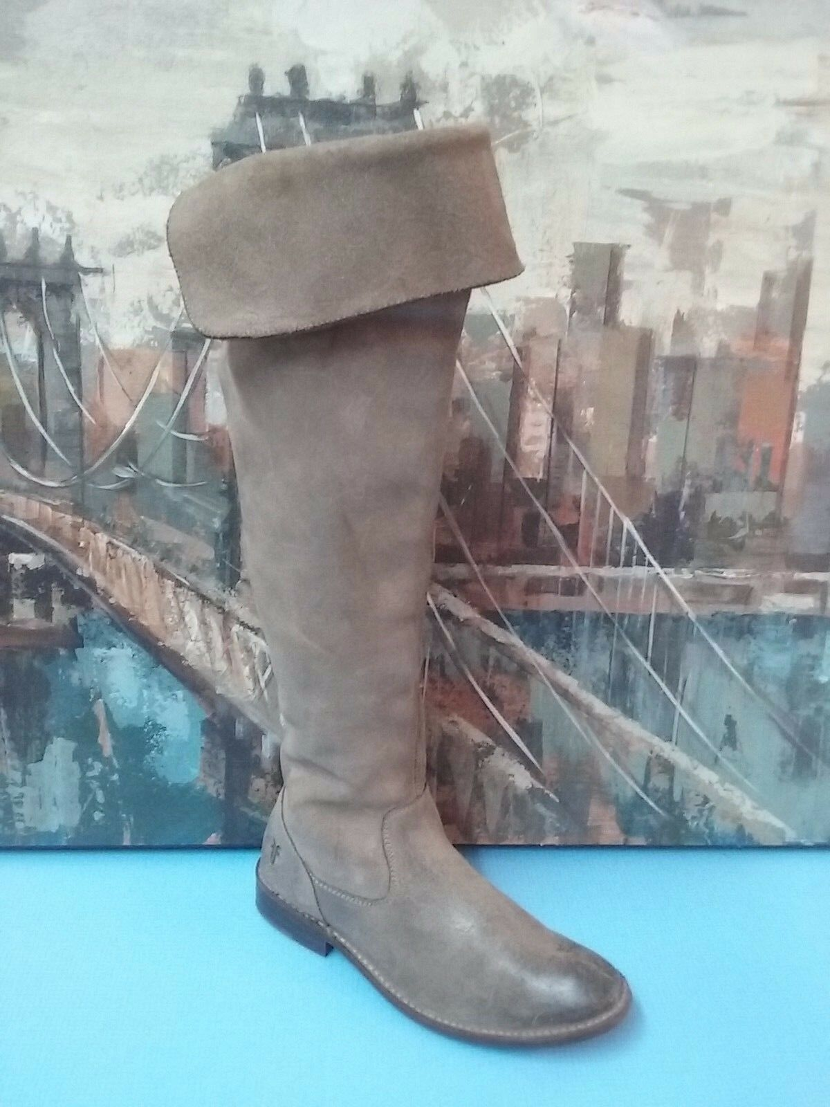 FRYE Taupe KNEE HIGH RIDING BOOTS STYLE NUMBER 4003 H    6.B