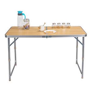 Détails sur Table de camping Table Table De Jardin Table pliante flattisch  réglable en hauteur MDF cpt8122hei- afficher le titre d\'origine
