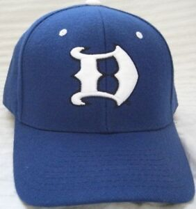 buy popular 41a8d b0bac Image is loading NEW-DUKE-BLUE-DEVILS-FITTED-7-HAT-CAP-