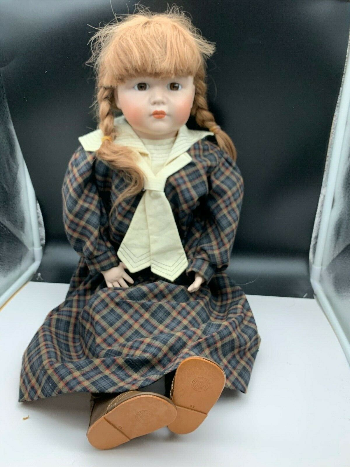 Bambola con Testa di Porcellana D'Autore 65 Cm. Ottime Condizioni (Vedi Foto)