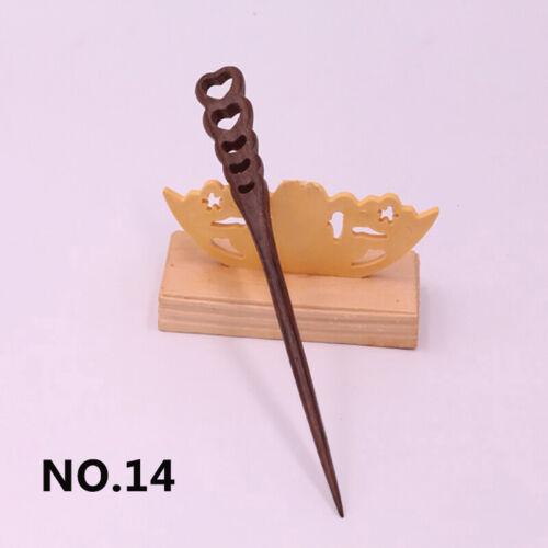 Women/'s Retro Wooden Hair Stick Wood Hairpin Hair Accessories Shawl Pin 18cm
