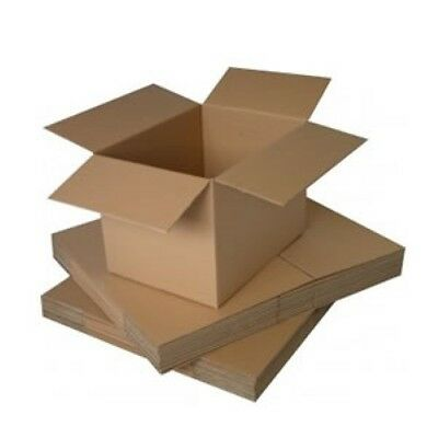 Dims SINGLE WALL FLAT PACKED PACK OF 12 CARDBOARD BOXES 305x229x127 Int