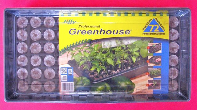 Seed Starting Tray Plastic Humidity Dome Jiffy 72 Pellet Windowsill Greenhouse