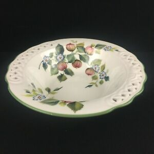 VTG-Large-Salad-Serving-Bowl-Brunelli-BNI1-Fig-Flower-Reticulated-Lattice-Italy