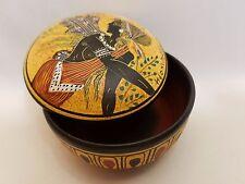 Greek Goddess of Dance Terpsichore Hellenic Ancient Art Pottery Jewelry Case
