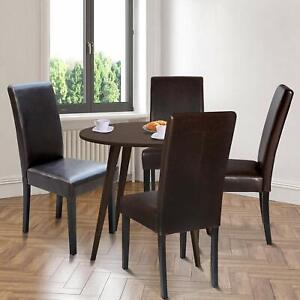 Dettagli su Sedie Moderne da Pranzo Cucina Set 2 pz Rivestimento in  Ecopelle Gambe in Legno