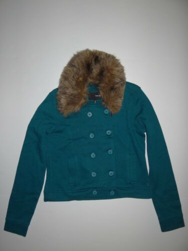 Fur New Double Wylie Fleece Jacket Breasted Small Faux Hurley Womie Collar xRwRqTr0O