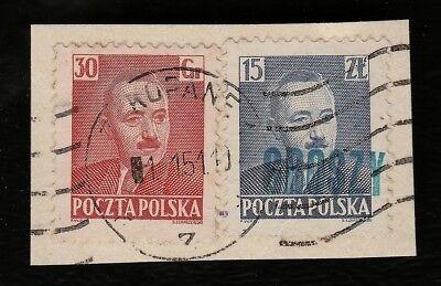 "1950 ""groszy""-ausgabe Stempel-typ Zakopane 15 Zl Gr + 30 Gr Währungsreform Eine GroßE Auswahl An Modellen"