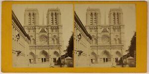 Notre-Dame-De-Paris-Francia-Foto-Stereo-L53S1n19-Vintage-Albumina