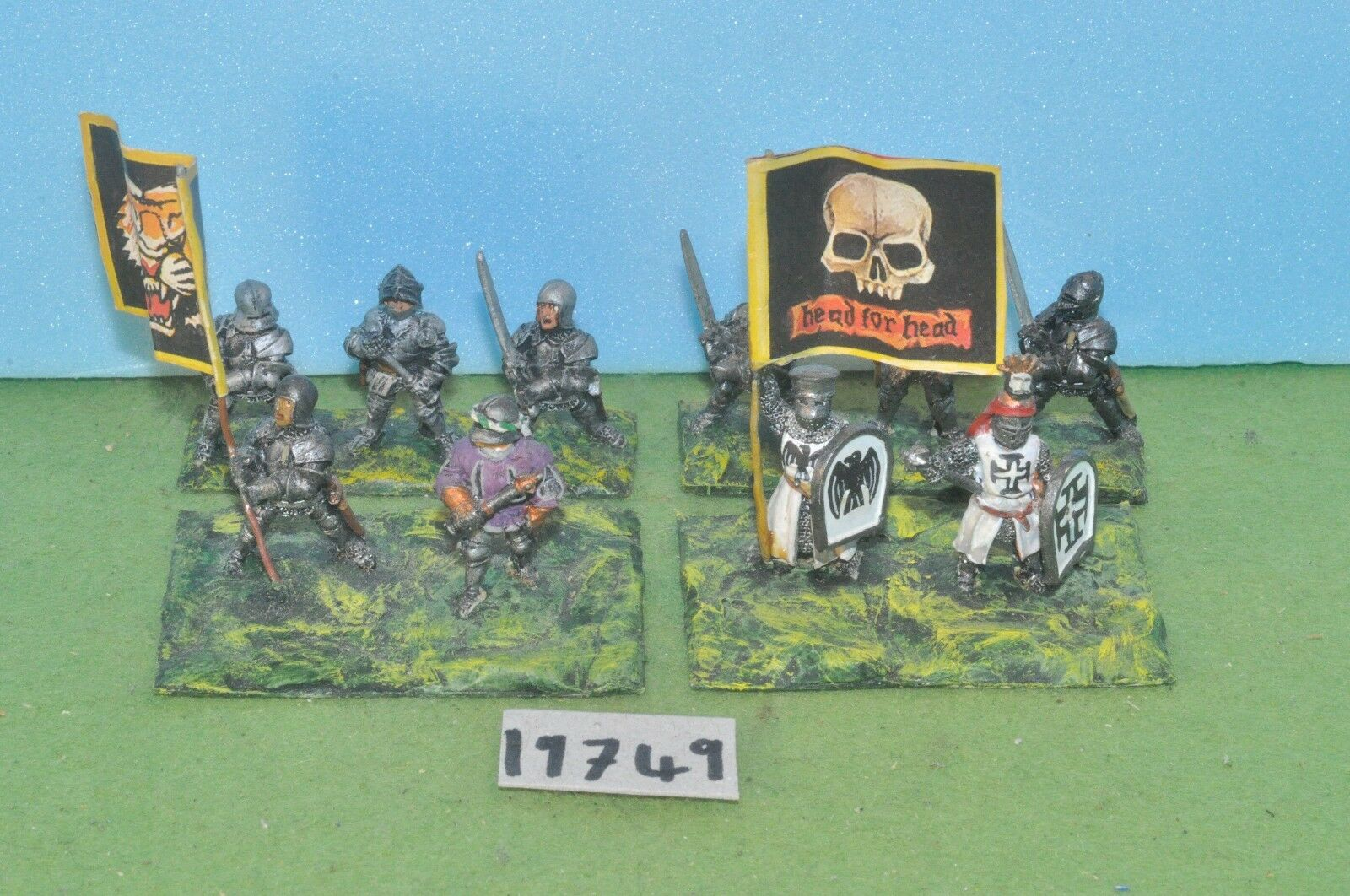 Item fantasy   warhammer - knights 10 metal bretonnian empire sigmar - (19749)
