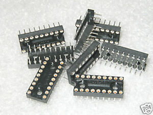 10 pcs AUGAT 518-AG37D   18 PIN x .3 MACHINED PIN PC IC SOCKETS