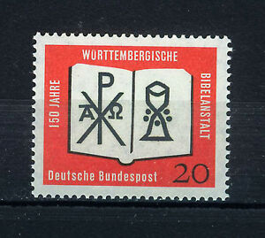 ALEMANIA-RFA-WEST-GERMANY-1962-MNH-SC-851-Wuttenberg-Biblie-Society