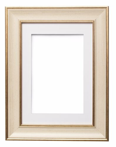 SC Photo Frame Poster Frame With Mount CREAM GUNMETAL Shabby Chic Picture Frame