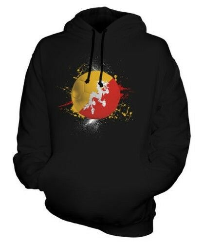 BHUTAN FOOTBALL UNISEX HOODIE TOP GIFT WORLD CUP SPORT