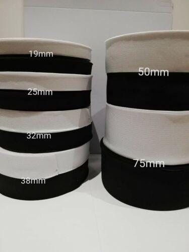 Piatto con filo elastico nero//bianco per cintura polsino per cucire cucito sartoria