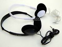 3.5mm Over The Head Stereo Headphones Adjustable Ipod Mp3 Cd Computer Cellphones