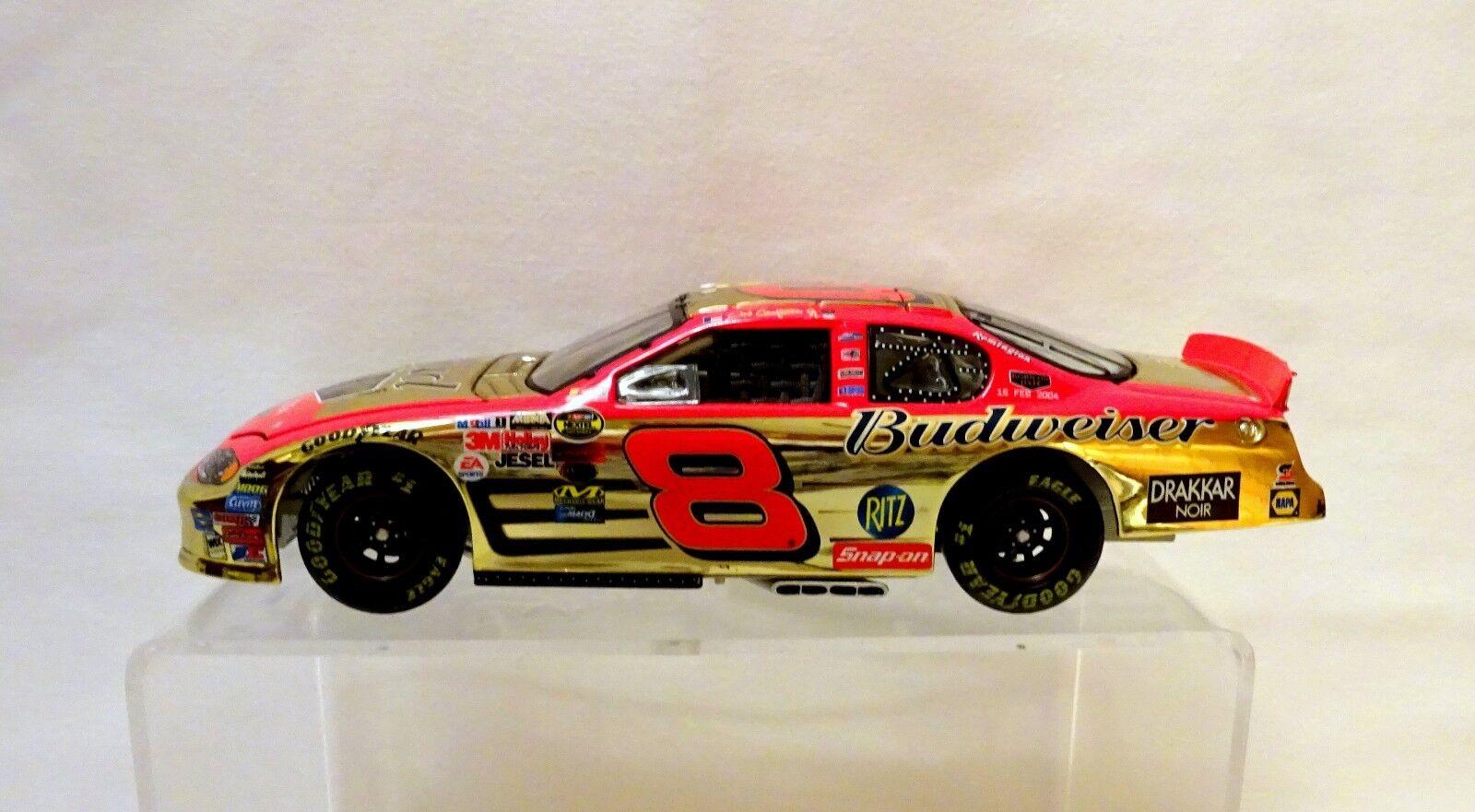 servicio considerado Dale Dale Dale Earnhardt Jr  8 Budweiser D500 ganador 2004 Monte Cochelo Ss Cromo oro (40)  ventas de salida