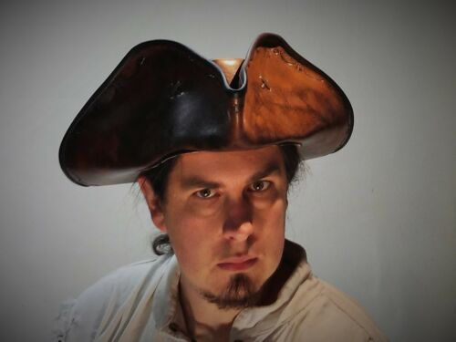 Rackam stamp leather hat pirate feather costume cosplay reenactment  medieval