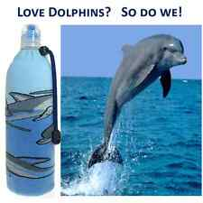 Dolphins Insulated Foldable Wine Beer Water Bottle Koozie Cooler Coozie Bag
