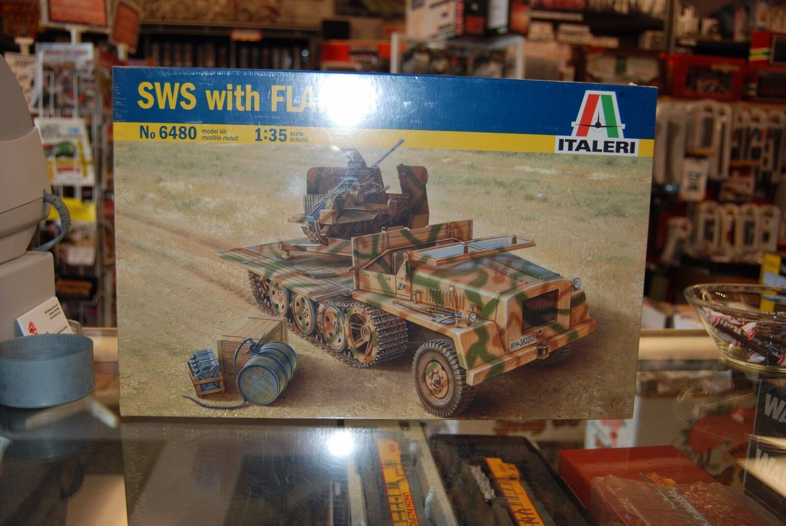 Italeri No 6480  1 35 SWS with FLAK FLAK FLAK 43 Plastic Model Kit 762bfb