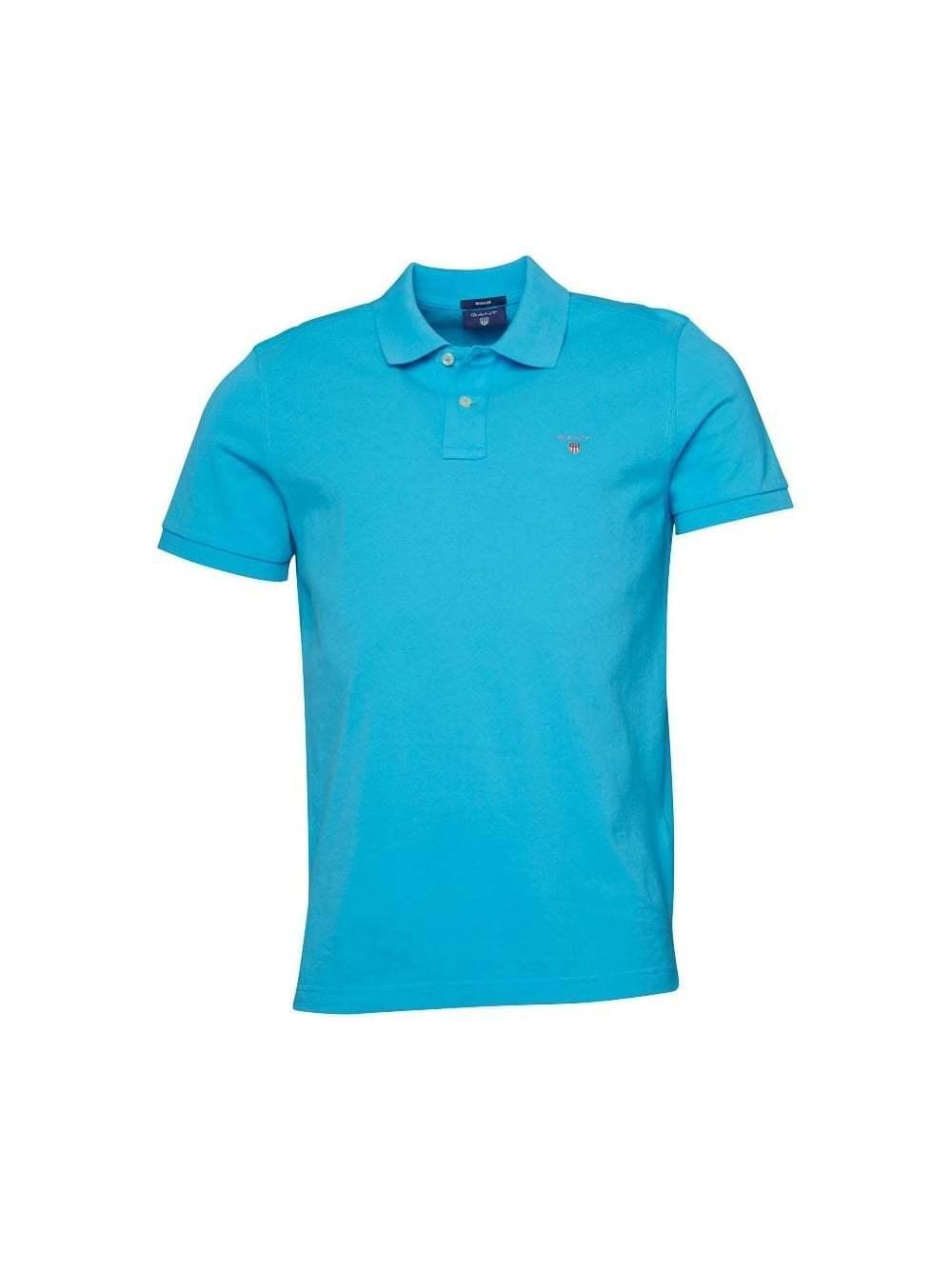 GANT Turquoise blu Classic Polo Shirt