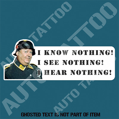 Truck Chrome Shop Near Me >> I KNOW NOTHING I SEE NOTHING I HEAR NOTHING DECAL STICKER