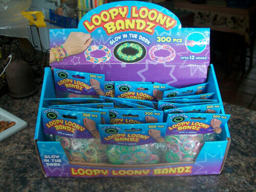 bulk job lot loom rubber bands 48 x 300 pk 12 s clips hair glow in dark 14400