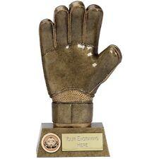 """Football GOALIE Goalkeeper Glove Trophy 8.75"""" FREE ENGRAVING Personalised Award"""