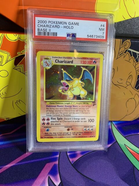 PSA 7 CHARIZARD 4/130 - Base Set 2 - Holo Rare - Non Shadowless - Pokemon TCG