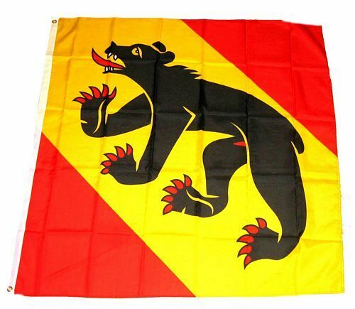 Bandiera//bandiera Svizzera-cantone Berna hissflagge 90 x 90 cm